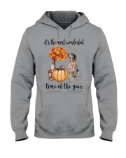 The Most Wonderful Time - Bluetick Coonhound Hooded Sweatshirt thumbnail