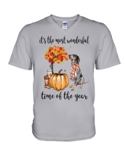 The Most Wonderful Time - Bluetick Coonhound V-Neck T-Shirt thumbnail