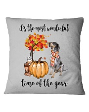 The Most Wonderful Time - Bluetick Coonhound Square Pillowcase thumbnail