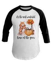 The Most Wonderful Time - Maine Coon Baseball Tee thumbnail