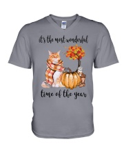 The Most Wonderful Time - Maine Coon V-Neck T-Shirt thumbnail