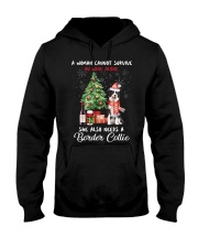 Christmas Wine and Border Collie Hooded Sweatshirt thumbnail