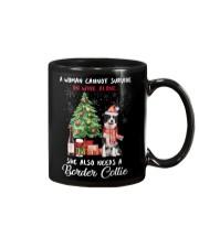 Christmas Wine and Border Collie Mug thumbnail