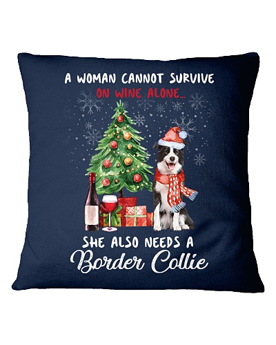 Christmas Wine and Border Collie