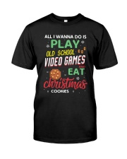 Old School Video Games and Christmas Cookies Classic T-Shirt thumbnail