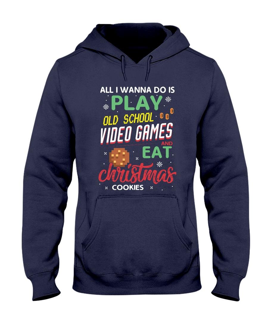 Old School Video Games and Christmas Cookies Hooded Sweatshirt