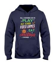 Old School Video Games and Christmas Cookies Hooded Sweatshirt front