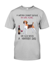 Wine and Harrier Dog 2 Classic T-Shirt front