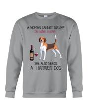 Wine and Harrier Dog 2 Crewneck Sweatshirt thumbnail