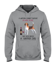 Wine and Harrier Dog 2 Hooded Sweatshirt thumbnail