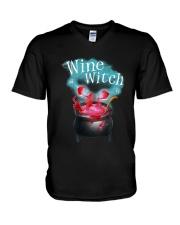 Wine Witch V-Neck T-Shirt thumbnail