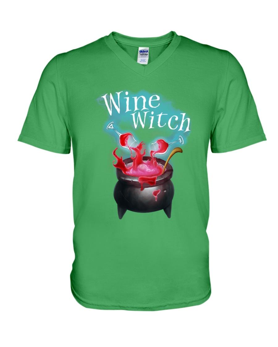 Wine Witch V-Neck T-Shirt