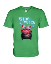 Wine Witch V-Neck T-Shirt front