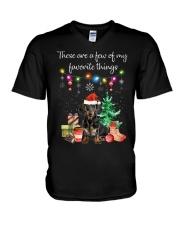 A Few of My Favorite Things - Dachshund V-Neck T-Shirt thumbnail