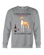 Wine and Saluki 2 Crewneck Sweatshirt thumbnail