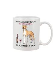 Wine and Saluki 2 Mug thumbnail