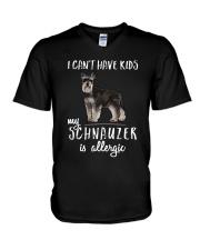 My Schnauzer is Allergic V-Neck T-Shirt thumbnail