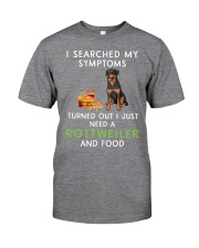Rottweiler and Food Classic T-Shirt front
