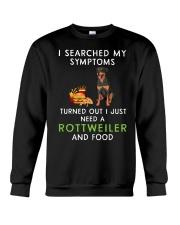 Rottweiler and Food Crewneck Sweatshirt thumbnail