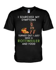 Rottweiler and Food V-Neck T-Shirt thumbnail