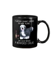 Wine and Bearded Collie Mug thumbnail