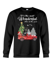 Wonderful Christmas with Truck - Staffie Crewneck Sweatshirt thumbnail