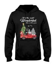 Wonderful Christmas with Truck - Staffie Hooded Sweatshirt thumbnail