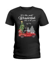 Wonderful Christmas with Truck - Staffie Ladies T-Shirt thumbnail