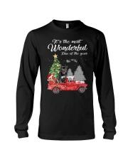 Wonderful Christmas with Truck - Staffie Long Sleeve Tee thumbnail