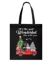 Wonderful Christmas with Truck - Staffie Tote Bag thumbnail