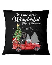 Wonderful Christmas with Truck - Staffie Square Pillowcase thumbnail