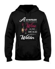 Wine and A Welder 3 Hooded Sweatshirt thumbnail