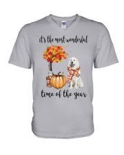 The Most Wonderful Time - Great Pyrenees V-Neck T-Shirt thumbnail