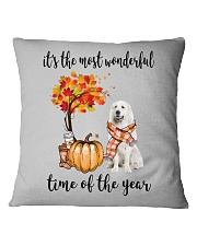 The Most Wonderful Time - Great Pyrenees Square Pillowcase thumbnail