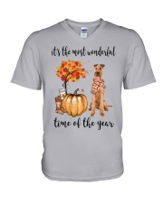 The Most Wonderful Time - Irish Terrier V-Neck T-Shirt thumbnail