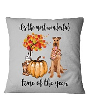 The Most Wonderful Time - Irish Terrier Square Pillowcase thumbnail