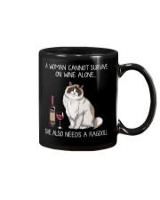 Wine and Ragdoll Cat Mug thumbnail