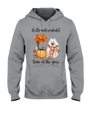 The Most Wonderful Time - American Eskimo Dog Hooded Sweatshirt thumbnail