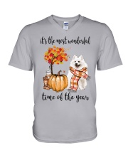 The Most Wonderful Time - American Eskimo Dog V-Neck T-Shirt thumbnail
