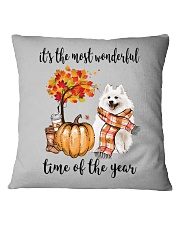 The Most Wonderful Time - American Eskimo Dog Square Pillowcase tile