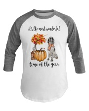 The Most Wonderful Time - English Setter Baseball Tee thumbnail