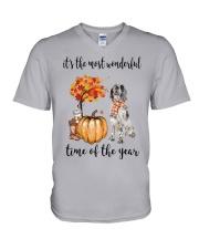 The Most Wonderful Time - English Setter V-Neck T-Shirt thumbnail