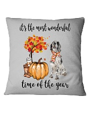The Most Wonderful Time - English Setter Square Pillowcase tile