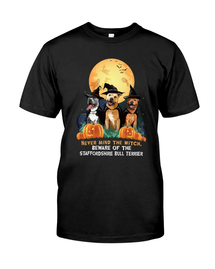 Howloween Staffordshire Bull Terrier 2 Classic T-Shirt