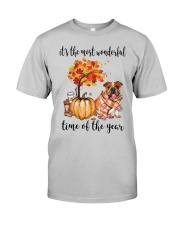 The Most Wonderful Time - Bulldog Classic T-Shirt front