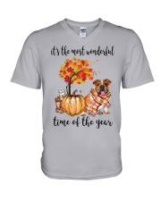 The Most Wonderful Time - Bulldog V-Neck T-Shirt thumbnail