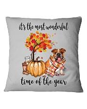 The Most Wonderful Time - Bulldog Square Pillowcase thumbnail