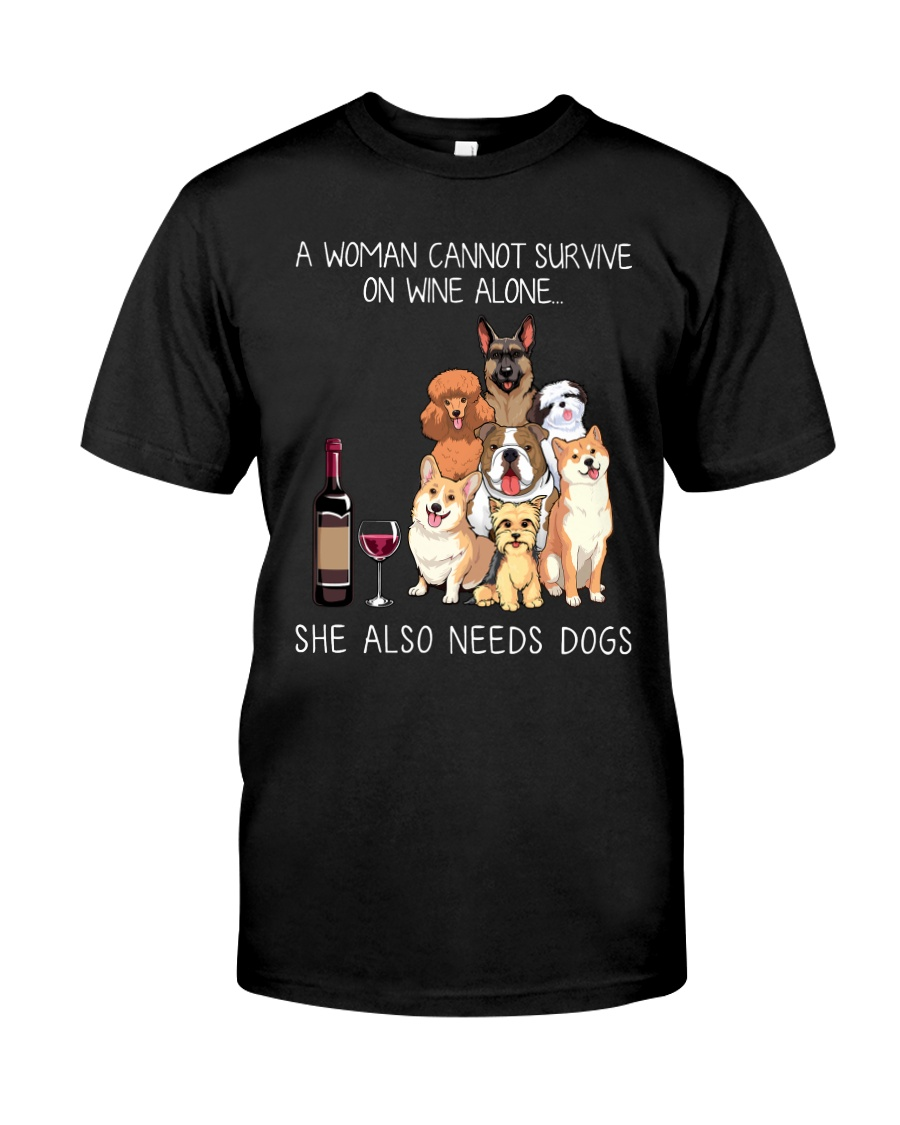 Wine and Dogs Classic T-Shirt