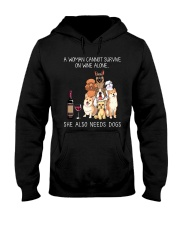Wine and Dogs Hooded Sweatshirt thumbnail