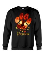 Dog Mom Autumn Leaves Halloween Crewneck Sweatshirt thumbnail